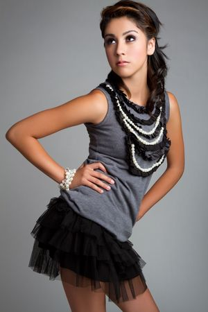 Beautiful young hispanic fashion girl Stock fotó