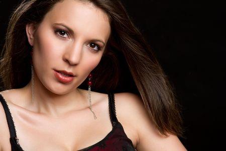 Beautiful brunette woman Stock Photo - 8052778