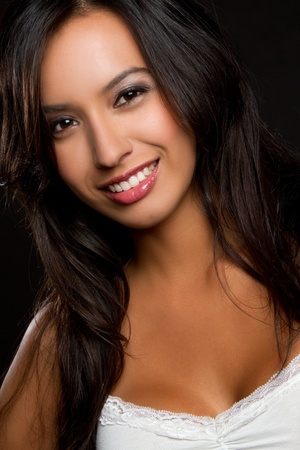 Beautiful smiling latin woman headshot Stock Photo - 9105758