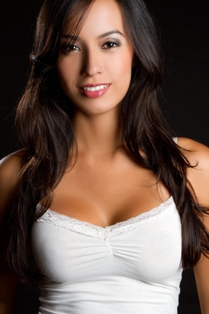 latin ethnicity: Beautiful smiling happy latina woman