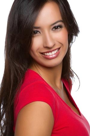 아름 다운 미소 행복 라틴 여자