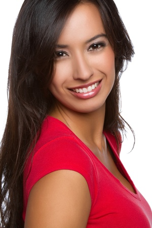latina girl: Beautiful smiling happy latin woman