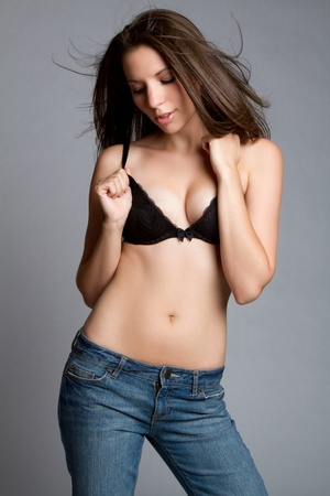 Fashion model woman wearing bra Stock Photo - 9105775
