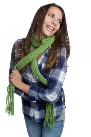 Beautiful laughing winter fashion woman Stock Photo - 9466088