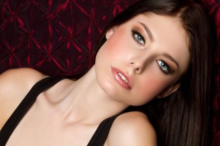 Beautiful young blue eyes woman Stock Photo - 9466094