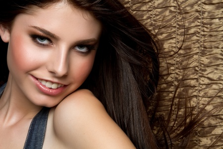 Beautiful smiling young happy woman Stock Photo - 9466102