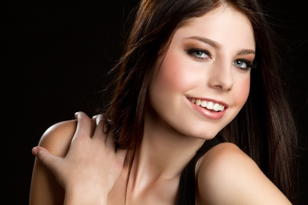 Beautiful pretty smiling young woman photo