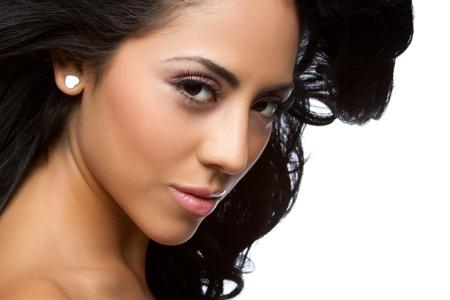 hispanic ethnicity: Beautiful latin woman closeup headshot