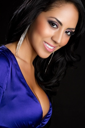 Beautiful smiling young latina woman Banque d'images