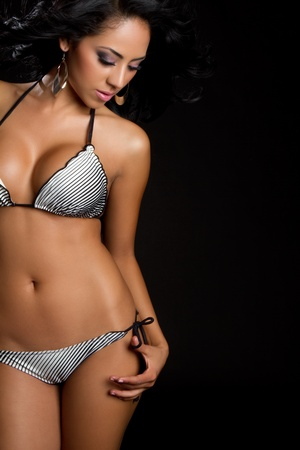 swimsuit: Beautiful latin swimsuit bikini woman