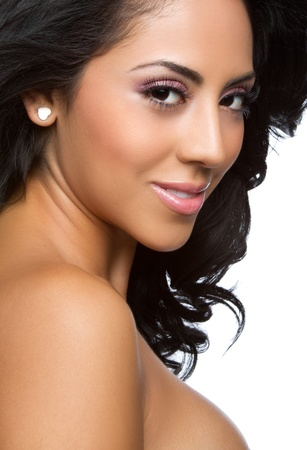 latin ethnicity: Beautiful latina woman headshot closeup