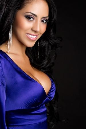 Beautiful smiling young latina woman  Stok Fotoğraf
