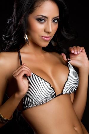 Beautiful latina woman wearing bikini Stock Photo - 9466138