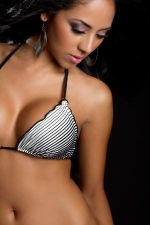 Pretty latin bikini swimsuit woman