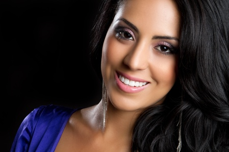Beautiful young smiling hispanic woman Stock Photo - 9475857