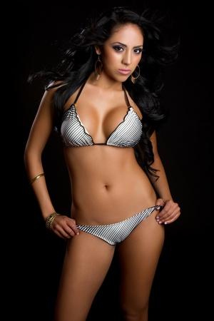 Pretty latin swimsuit fashion woman Stock Photo - 9475853