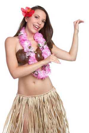 Beautiful tropical hula dancer girl
