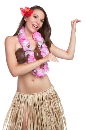 Beautiful tropical hula dancer girl Фото со стока - 9532641
