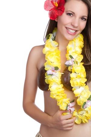 Beautiful smiling hawaiian tropical girl Stock fotó