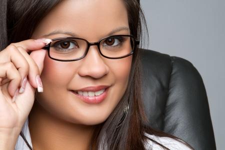 filipino ethnicity: Beautiful asian businesswoman wearing glasses