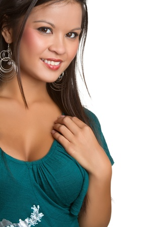 filipino ethnicity: Beautiful young smiling asian woman LANG_EVOIMAGES