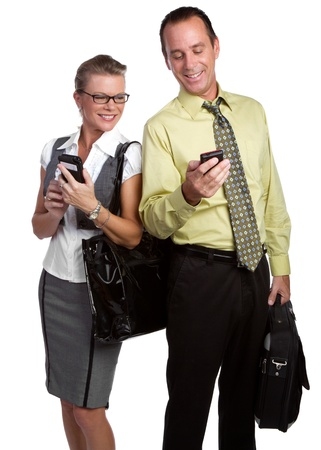 Business people using cell phones Stock Photo - 10231426