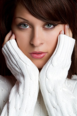 Beautiful young winter sweater woman Stock Photo - 10559454