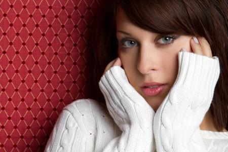 Beautiful woman wearing winter sweater Stock Photo - 10559455