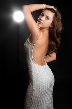 Beautiful young hispanic fashion woman Banco de Imagens