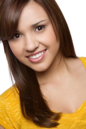Beautiful smiling young hispanic girl Stock Photo - 10605412