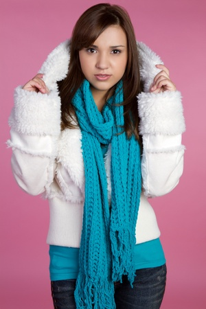 Beautiful teen winter fashion girl Stock Photo - 10605408
