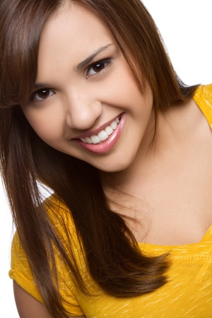 Beautiful pretty smiling teen girl
