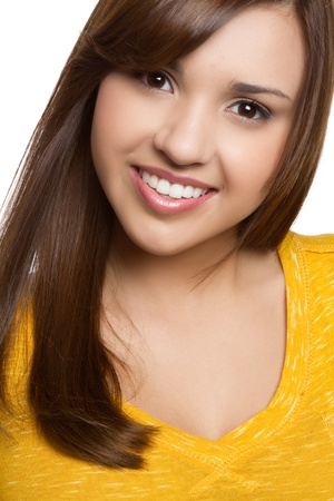 Beautiful young hispanic girl smiling Stock Photo - 11129168