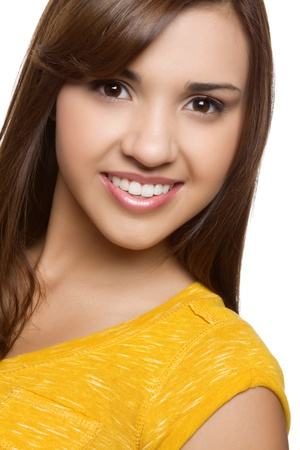 Smiling young pretty hispanic girl Stock Photo - 11129170