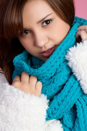 Pretty girl wearing winter scarf Stock Photo - 11129161