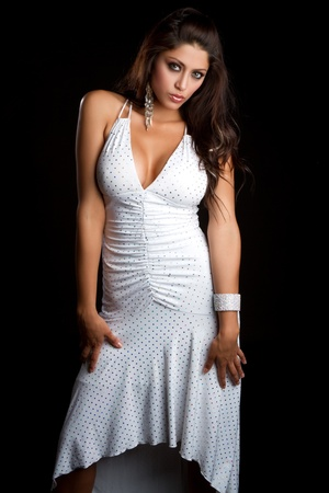 latin ethnicity: Sexy latin woman wearing dress