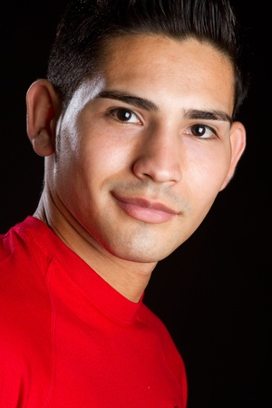 Smiling hispanic man portrait headshot Stock Photo - 11215876