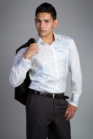 Man wearing business fashion clothes 免版税图像