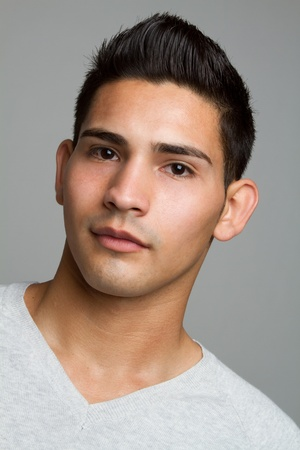 Young hispanic man closeup headshot Stock Photo - 11215878