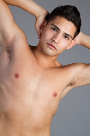 Sexy hispanic shirtless man posing Stock Photo - 11215877