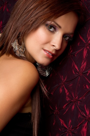 Beautiful woman looking over shoulder Stock Photo - 11215901