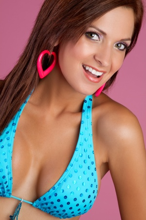 Beautiful smiling woman wearing bikini Stock Photo - 11215921