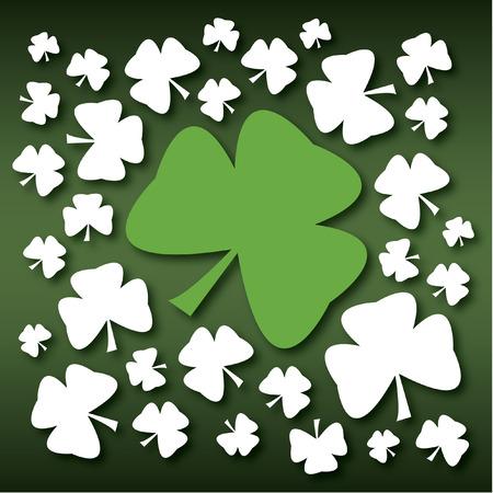 saint paddys day: St Patricks Day Green Shamrock Illustration