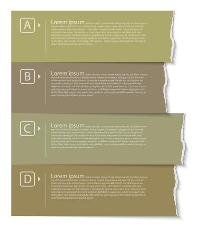 rip off: Natural color torn paper tabs