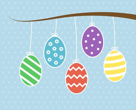 dangle: Easter eggs hanging on tree