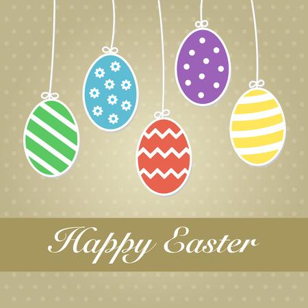 dangle: Colorati appesi uova di Pasqua