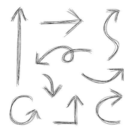squiggly: Hand drawn scribble arrows sketch
