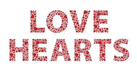 Romantic love hearts text message