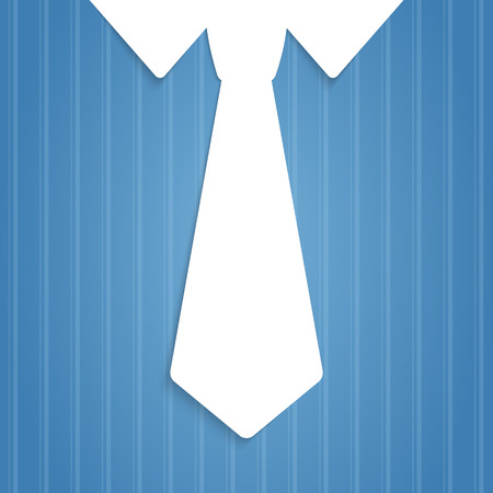 Mans pinstripe shirt tie illustration