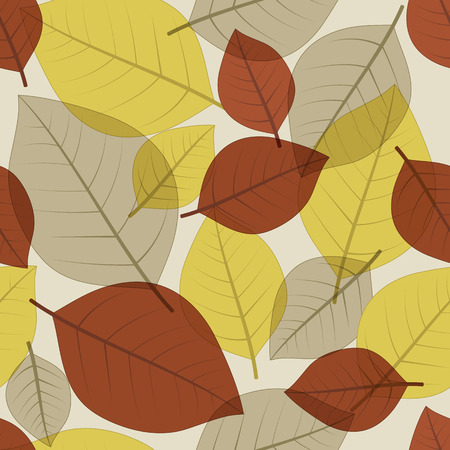 falling leaves: Seamless autumn fall leaves pattern